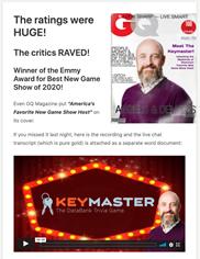 Keymaster - Ron Driggs