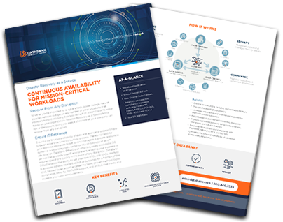 DataBank – Datasheet – Disaster Recovery as a Service