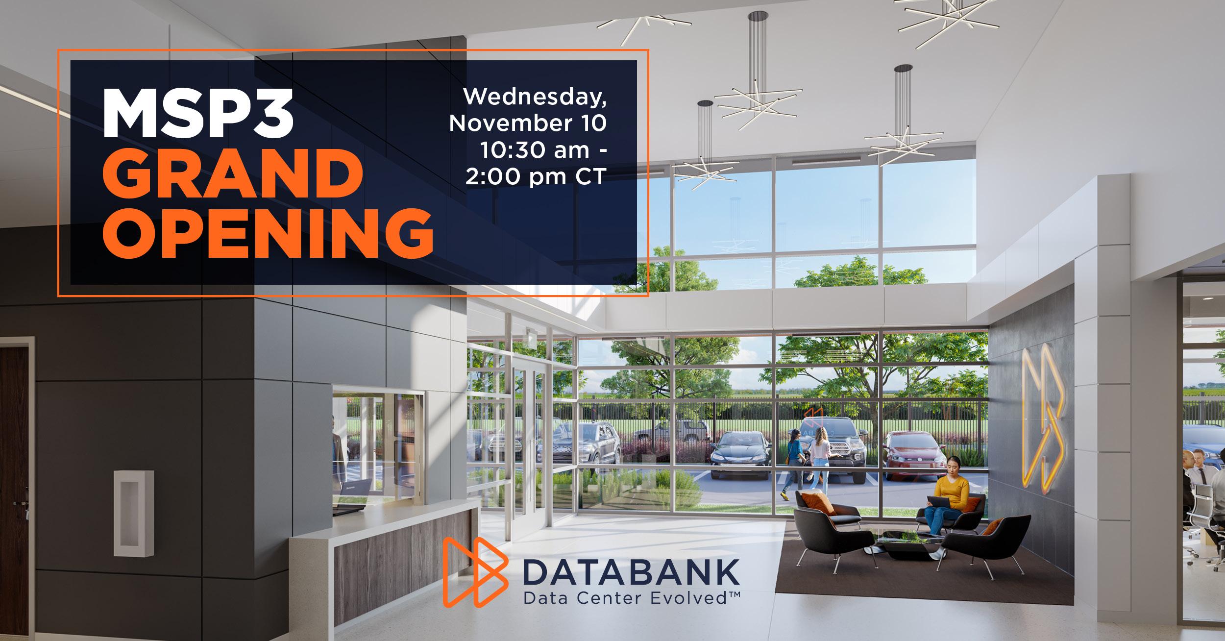 DataBank's Minneapolis (MSP3) Grand Opening